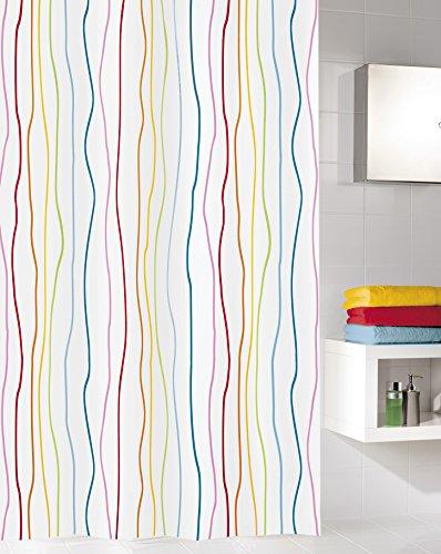 Kleine Wolke 5194148305 Duschvorhang Jolie, 180 x 200 cm, Multicolor