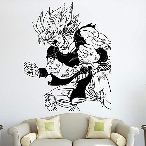 Tianpengyuanshuai Dragon Ball Japanischer Anime Goku Wandtattoo Schlafzimmer Teen Room Vinyl Wandaufkleber 69X76cm