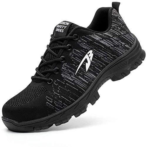 [EVIICC] 安全靴 作業靴 地下足袋 メンズ セーフティーシューズ ワークシューズ レディース 鋼先芯 JIS H級 耐磨耗 衝撃吸収 スニーカー 耐滑 通気 軽量