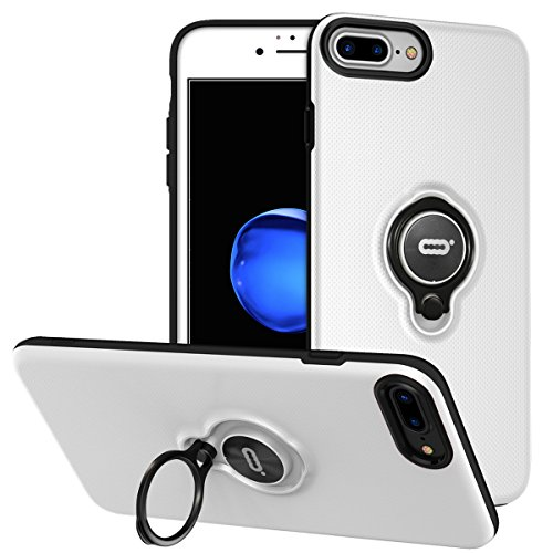 DESOF iPhone 8 Plus Case, iPhone 7 Plus Case with Ring Holder Kickstand, 360