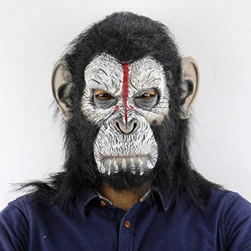 Zleimjab Planet der Affen Halloween Cosplay Gorilla Maskerade Maske Monkey King Kostüme Caps Realistische Monkey Mask Unterhaltung