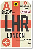 LHR–ロンドン空港タグ–新しい旅行ポスター