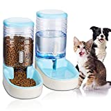 UniqueFit Pets Cats Dogs Automatic Waterer and Food Feeder 3.8 L with 1* Water Dispenser and 1 * Pet Automatic Feeder (Blue)