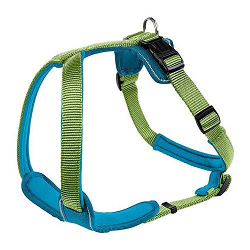 HUNTER NEOPREN Hundegeschirr, Nylon, gepolstert mit Neopren, für Sport und Freizeit S, hellgrün/petrol