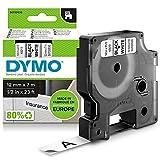 Dymo D1 Etichette Autoadesive per Stampanti LabelManager, Rotolo da 12 mm x 7 m, Stampa Ne...