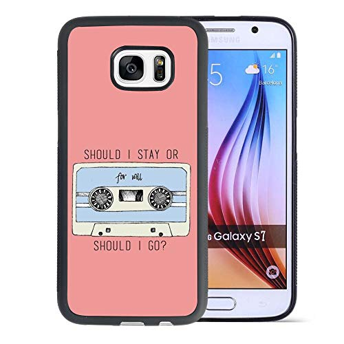 Phone Case Compatible Samsung Galaxy S7 5.1-Inch Stranger Things Tape Quote