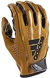 adidas AF1000 Adizero 7.0 Receiver's Gloves, Metallic Gold, Small