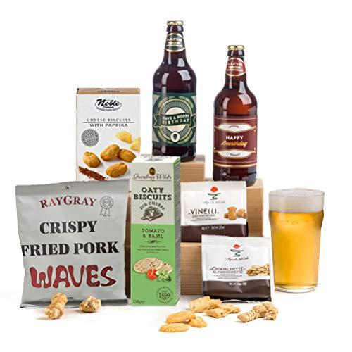 Hoppy Birthday! Beer & Nibbles Hamper Gift for Men