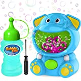 WisToyz Bubble Machine Elephant Bubble Blower Bubble Toys 500+ Bubbles Per Minute, Bubble Machine for Kids Toddler with Bubble Solution Bubble Maker Easy to Use 2 AA Batteries Needed 5.3X3.9 inch…