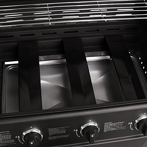 Charles Bentley 3 Burner Hooded Gas BBQ - Black