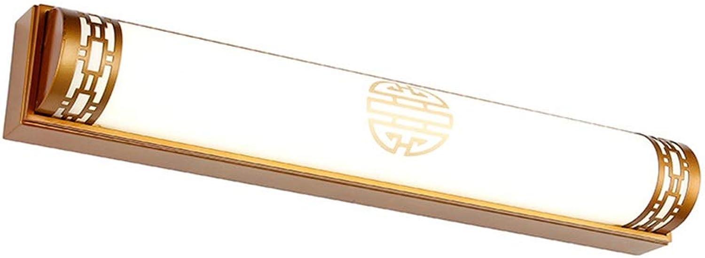 William 337 Spiegel Frontleuchte LED Badezimmer Licht Retro Wasserdichte Spiegel Kabinett Licht Dressing Licht Anti-fog [Energieklasse A +] (gre   48cm 20w)