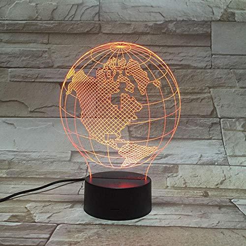 3D ilusión lámpara lámpara de ilusión óptica para Maquillaje de belleza ideal como regalo de cumpleaños para niños, niños y hombres Con interfaz USB, cambio de color colorido