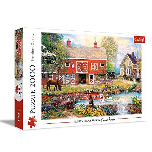 Trefl- Idyllisches Leben 2000 Teile, Premium Quality, für Erwachsene und Kinder AB 12 Jahren Puzle, Color Coloreado (27106)