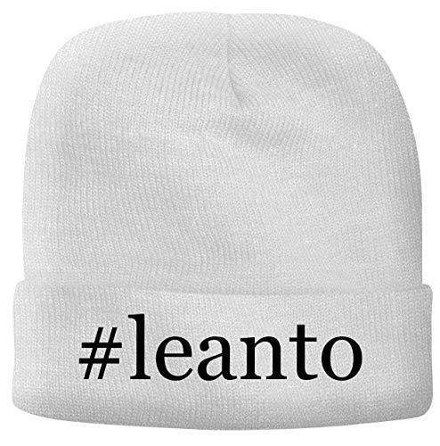 BH Cool Designs #Leanto - Men's Hashtag Soft & Comfortable Beanie Hat Cap, White, One Size