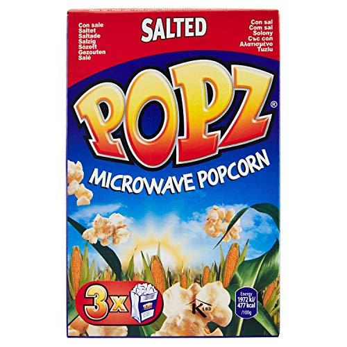 Popz Popcorn per Microonde con Sale, 300g
