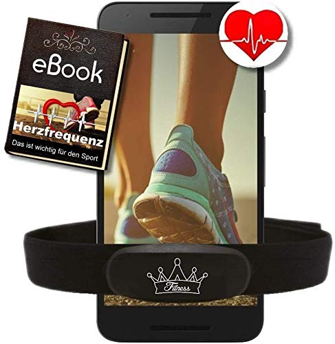 Fitness Prince© Heartbeat Dual Herzfrequenz Ant+ Bluetooth Low Energy Echtzeit + Gratis Ebook - kompatibel zu Garmin Wahoo Polar RUNTASTIC Strava ENDOMONDO Tomtom iPhone Brustgurt