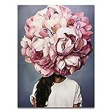 Bdgjln Puzzle 1000 Piezas-Flor de Mujer-Puzzle Difícil Y Desafiante,Grande Educativo Alivio del Estrés Relajante JuegoDivertidopa Adultos Niños-50x75cm