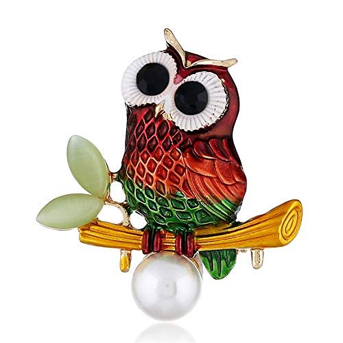 Cute Owl Brooches for Women Girls F…