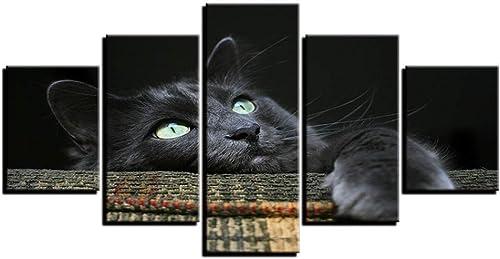 tienda en linea Pintura de la Lona Marco de Decoración para para para el hogar HD Imprime Fotos de Animales 5 Unidades Suave gris gris Gato Cartel para Niños Habitación Arte de la Parojo  ventas en linea