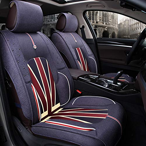 Buy Discount YUYE Flax Car Seat Covers Full Set - for 5 Seats Car Automotive Universal Fit Seat Cove...