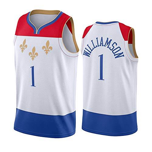 Dybory Hombres Basketball Jersey City Edition, New Orleans Pelicans # 1 Chaleco Sin Mangas Transpirable De Secado Rápido Williamson,L