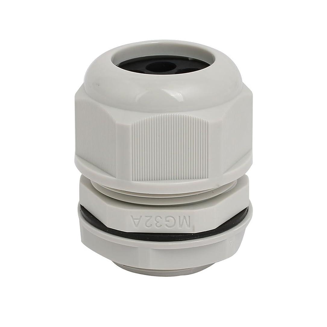 手書き溶けるリーダーシップuxcell ケーブルグランドファスナー 調整可能 5穴 ケーブル範囲 6-8mm M32x1.5mm グレー