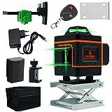 MOFANLE 16 Linee 4D Livello Laser Autolivellante Potenti Linee Trasversali Orizzontali e Verticali Regolazione Rotativa a 360 Gradi