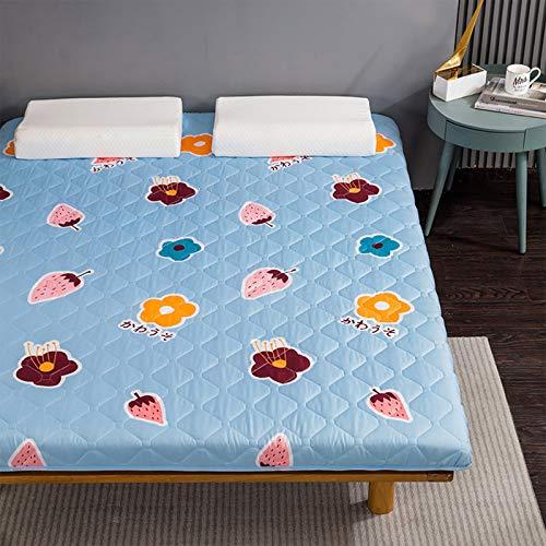 MYYU Cotone Spesso Non-Scivolare Sleeping Pad,Trapuntato Pieghevole Roll Up Materasso Tradizionale Giapponese Materassi Letto Futon Tatami Tappetino,B,150 * 200cm