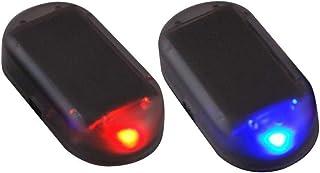 Paddsun 2pcs Solar Powered Car Alarm System,Vehicle LED Light Anti-Theft Flash Blinking Lamp,LED Flashing Security Light, ...