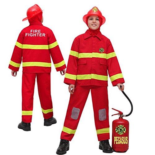 Costume carnaval pompier 12 - 13 anni rouge