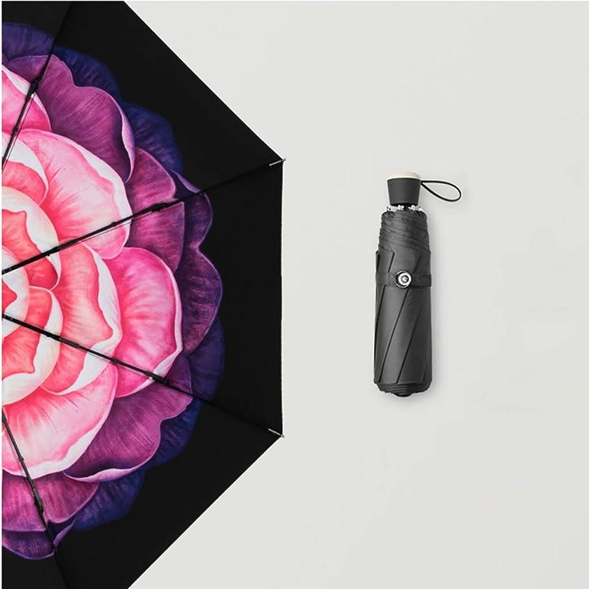 エステートヘア女優折りたたみ傘二重傘日焼け止めUV保護サンシェード傘旅行傘 CQQO (Color : Purple)