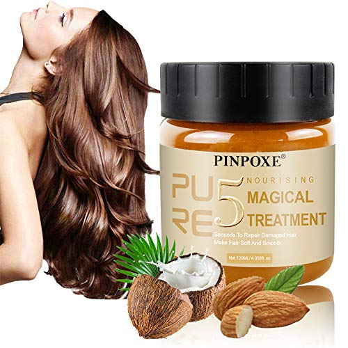 Magical Hair Treatment Mask, Haarmaske, Hair Mask, Conditioner Haarkuren, Reparaturen Wiederherstellen Weiches Haar Keratin Haarpflege & Kopfhaut Tiefenwirksame Glättung und Reparatur der Haare,120ML