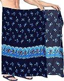 LA LEELA traje de baño Piratas Skeleton Owl esqueleto Calabaza Skull Cráneo Cosplay playa de envoltura de los pareo para hombre Vintage Brujas Disfraces De Fiesta De Halloween Costume 78'X39' Azul_Q63