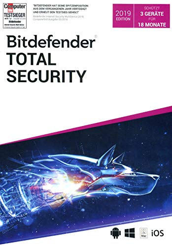 Bitdefender Total Security MultiDevice|Standard|3|18 Monate|PC+Mac+Android+iOs|Download|Download