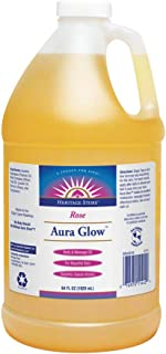 Heritage Store Aura Glow, Rose | Body & Massage Oil | For Beautiful Skin & Hair | Moisturizer, Aftershave Lotion, Hair & Bath Oil | 64oz