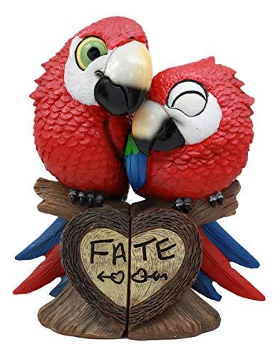 Ebros 熱帯雨林愛好家 パラダイス 鳥 スカーレット コンコ オウム カップル 像 木の枝に止まる 運命 装飾 置物 セット 記念日 バレンタインデーのアイデアに