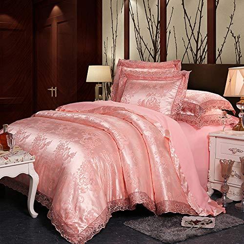 ZMK-720 Courtepointe Mariage Maison Textile Simple Dentelle Princesse Jacquard Tencel Satin Quatre Literie Trois Pièces @ 200 * 230Cm