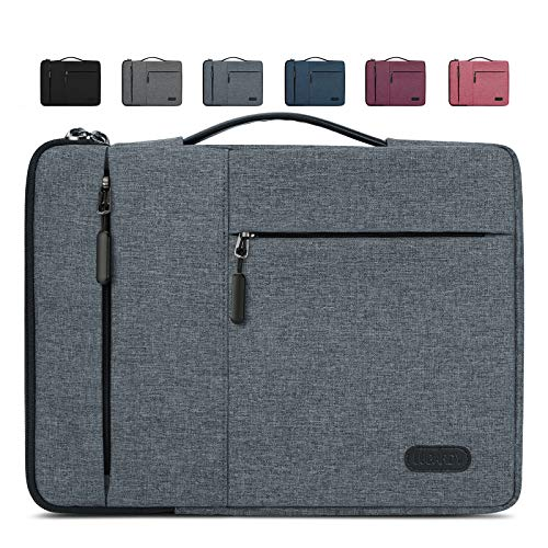 Lubardy Laptop Sleeve Case 15-15.6 Inch Water Repellent Laptop Cover Shock Resistant Compatible with MacBook Pro Notebook Protective Bag Grey
