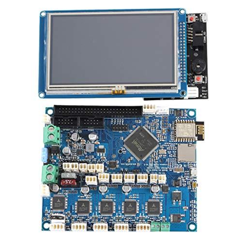 Cobeky Duet 2 Wifi V1.04 Clonado 32 Bit Board con control de pantalla de prensa PanelDue de 4.3 pulgadas para máquina CNC
