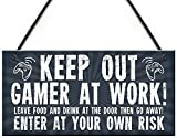Gamer Gift Gaming Sign for Boys Bedroom Door Man Cave Son Birthday Xmas Gift Xbox Fan