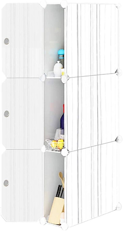 HUYP Bathroom Bathroom Gap Storage Cabinet Kitchen Refrigerator Rack Study (color   White)