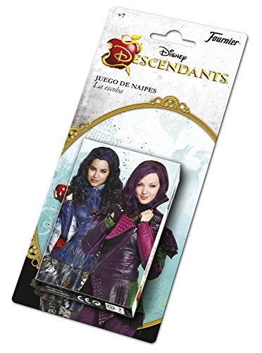 Los Descendientes- Descendants Baraja Infantil con 40 Cartas, Multicolor (Naipes Heraclio Fournier 1031145)