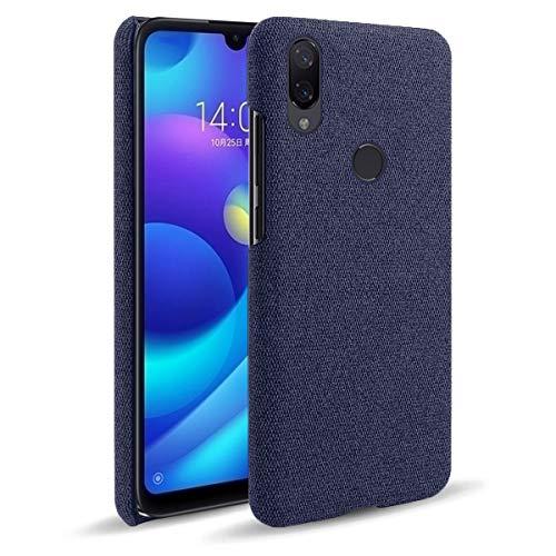 SHUNDA Capa para Xiaomi Mi Play, capa de proteção ultra fina de tecido de feltro antiimpressão digital para Xiaomi Mi Play - azul