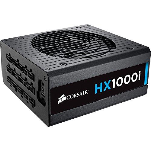Corsair HX1000i Power Supply - 120 V AC, 230 V AC Input Voltage - 3.3 V DC, 5 V DC, 12 V DC, -12 V DC, 5 V DC Output Voltage - 1 Fans - Internal - Modular - 92% Efficiency - 1 kW - CP-9020074-NA