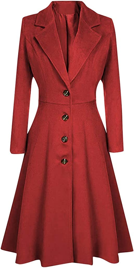 Discount is also underway Lazapa It is very popular Long Coat for Women Slim Button Belt Fashion Woolen