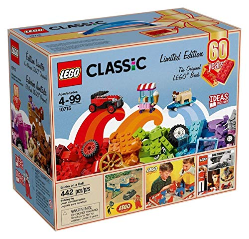 LEGO Classic Bricks On A Roll 442-Piece Building Kit - 60th Anniversary Limited Edition