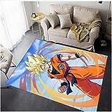 ZZXC Alfombra Dormitorio Sala De Estar Alfombra De Puerta Pasillo Dibujos Animados Anime Dragon Ball Goku Baño Rectangular Moderno Piso De La Habitación Alfombra Decorativa