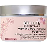 Best Anti Aging Mask : AGELESS BEEVENOM FACE Mask - 1.77 Oz   50 gm   Anti Wrinkle Collagen Booster : Vitamin C, Hyaluronic Acid, Peptides, Vitamin E, Blueberries