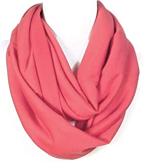 Super Soft Light Weight Solid Color Infinity Loop Scarf