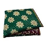 PEEGLI Frauen Indischen Ethnischen Grün Vintage Kleid